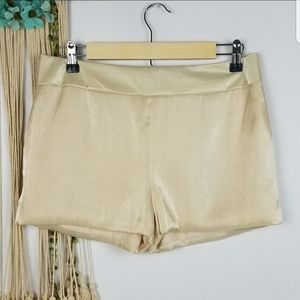 Lucca Couture brand Shorts size M back waist zippe